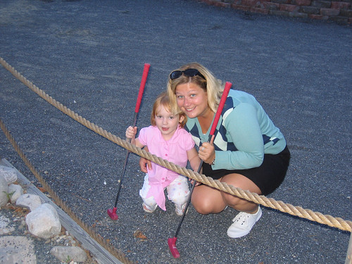 Extended Family and Friends: Susan Playing Mini Golf with Grace | by sfusswork