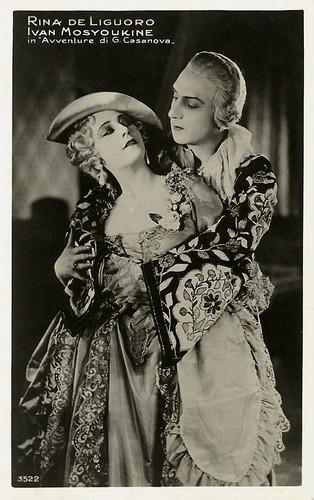 Rina De Liguoro and Ivan Mozzhukhin in Casanova (1927)