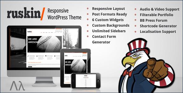 ... Ruskin Responsive WordPress Theme - by United Themes