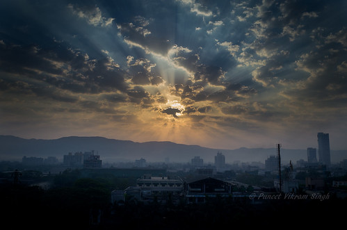 sun india clouds sunrise cityscape mumbai vashi navimumbai amazingnature nikond5100