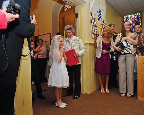 woman white newyork girl children catholic dress religion ceremony chruch poeple firstcommunion marcellus stfrancisxavier afszoomnikkor2485mmf3545gifed yourphototips scottthomasphotography