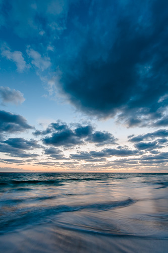 ocean morning sky beach water clouds sunrise dawn early waves horizon thebahamas centraleleuthera