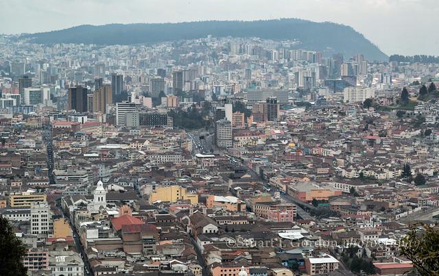 Quito, Ecuador from the Panecillo Overlook