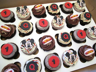 Mickey Mouse Birthday Cupcakes | by Cutie Cakes WY