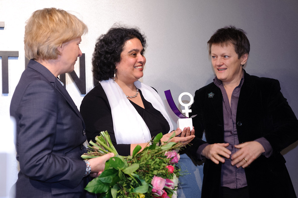 v.l.n.r.: Barbara Unmüßig, Nivedita Prasad, Renate Künast