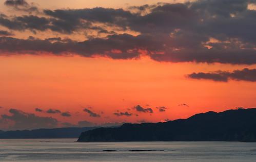 sunset sky panorama cloud sun japan spring chiba 日本 太陽 海 空 春 千葉県 hugin 千葉 katsuura パノラマ 日没 曇 きれい 勝浦 ちば かつうら