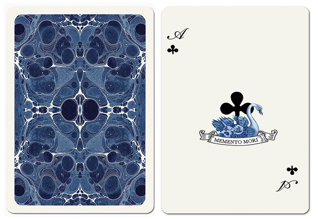 Uusi Blue Blood Ace of Clubs & back