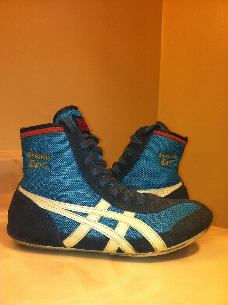 online store b4899 e1300 Onitsuka Tiger Wrestling Shoes GONE! | baby blue size 6 1/2 ...