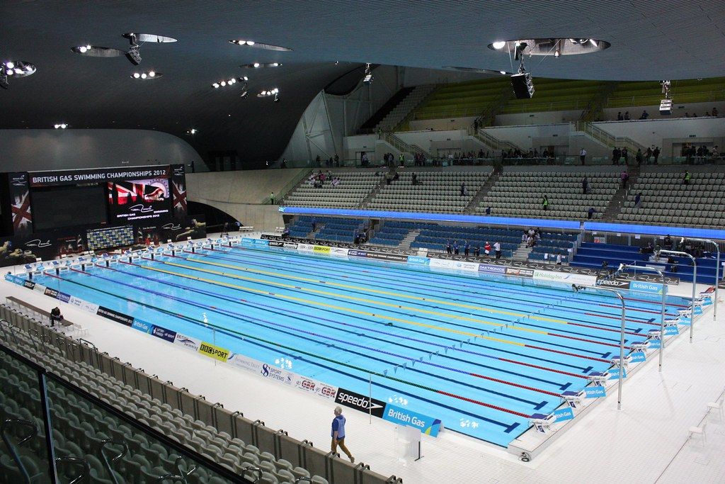 London Olympic Swimming Pool for the London 2012 Olympics