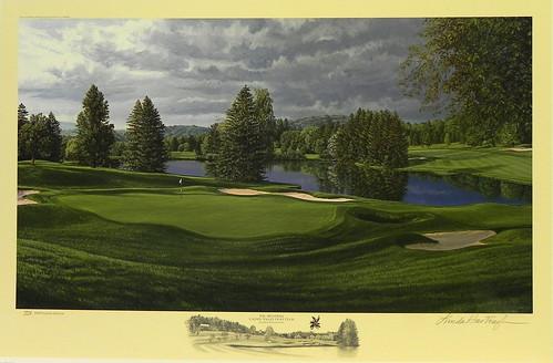 The 18th Hole, Laurel Valley Golf Club, Ligonier, Pennsylvania | by Smith Galleries