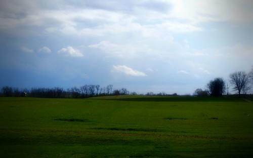 blue trees ohio sky green field clouds march backyard sony country 2012 a230 fairfieldcounty ruralohio stoutsville