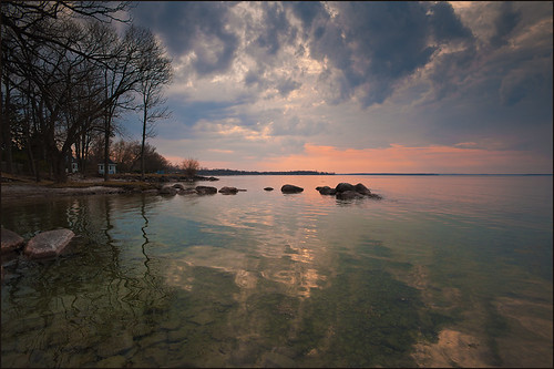 sunset ontario canada nature simcoe marchlandscape