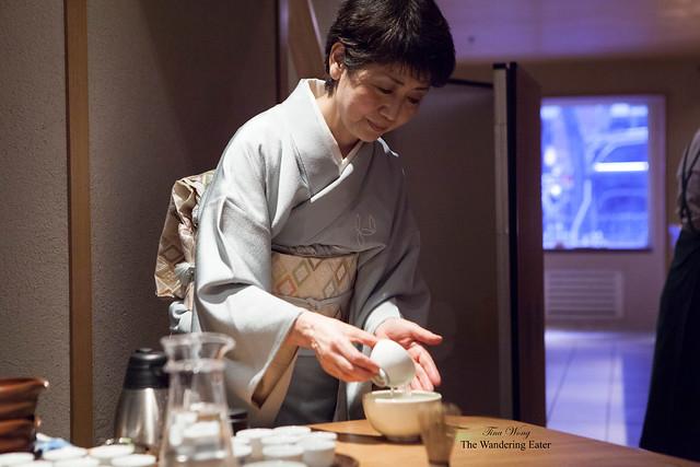 Vice President of Ippodo, Mrs. Watanabe, performing the Matcha Tea Ceremony