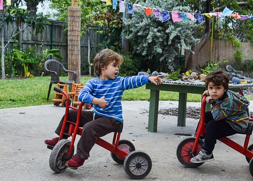 Kids on trikes | by Sunflower Creative Arts