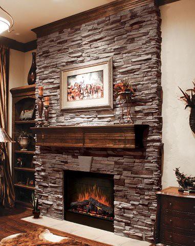 Virginia Ledge Cape Cod Grey Stone Veneer Fireplace Flickr