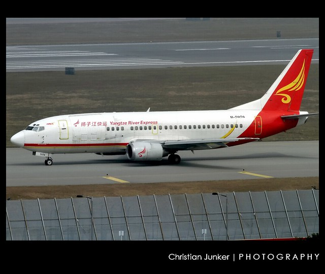 B737-330QC   Yangtze River Express   B-5056   HKG
