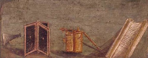 Writing implement fresco | by The Classical World