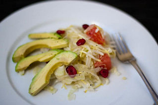 endive, fennel and avocado salad with grapefruit dressing | by liminaldreams