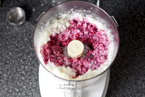 partially blended raspberries | by smitten kitchen