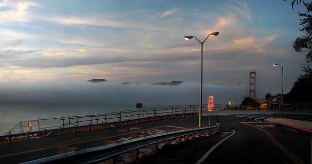 San Francisco Bay Fog, POV Presidio, Lincoln St