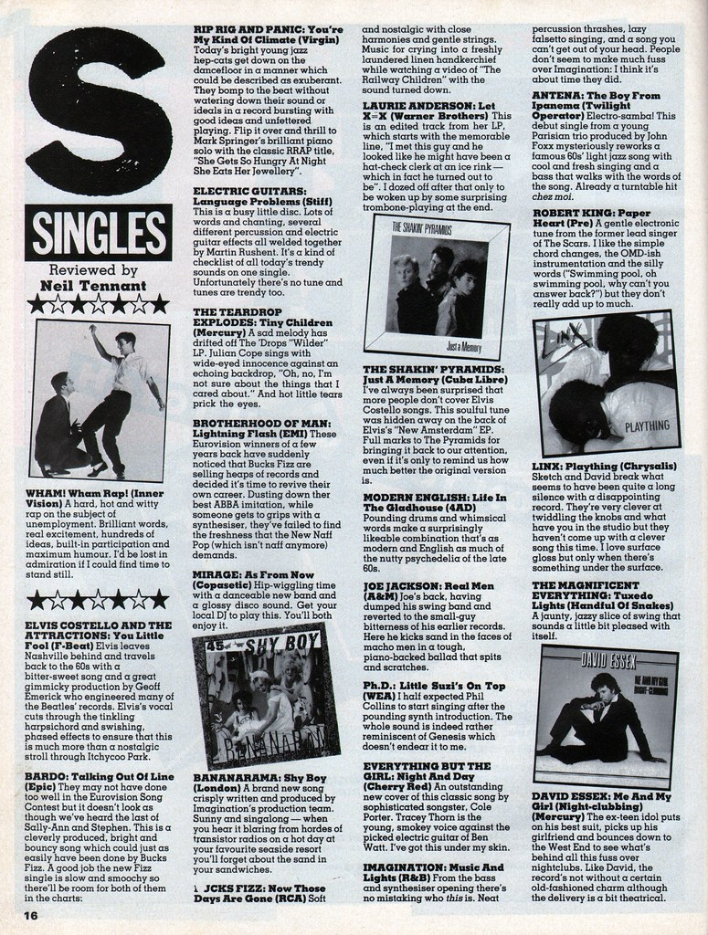Smash Hits, June 24, 1982 - p 16 | Like Punk Never Happened