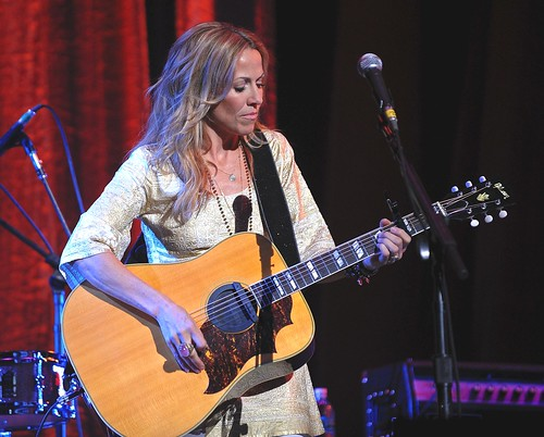 "<p>Sheryl Crow performing the George Harrison standard ""My Sweet Lord"" during the charity event ""Change Begins Within"" to support the David Lynch Foundation.</p>"