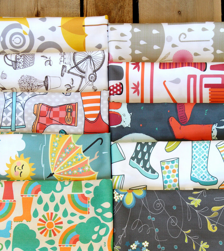 Wellies and Galoshes Design Challenge Fat Quarter Bundle