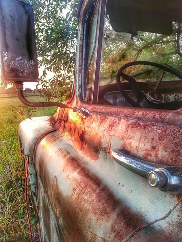 sunset chevrolet field truck rust chevy erath flickrandroidapp:filter=none
