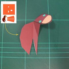 วิธีทำโมเดลกระดาษตุ้กตาคุกกี้รัน คุกกี้รสฮีโร่ (LINE Cookie Run Hero Cookie Papercraft Model) 015
