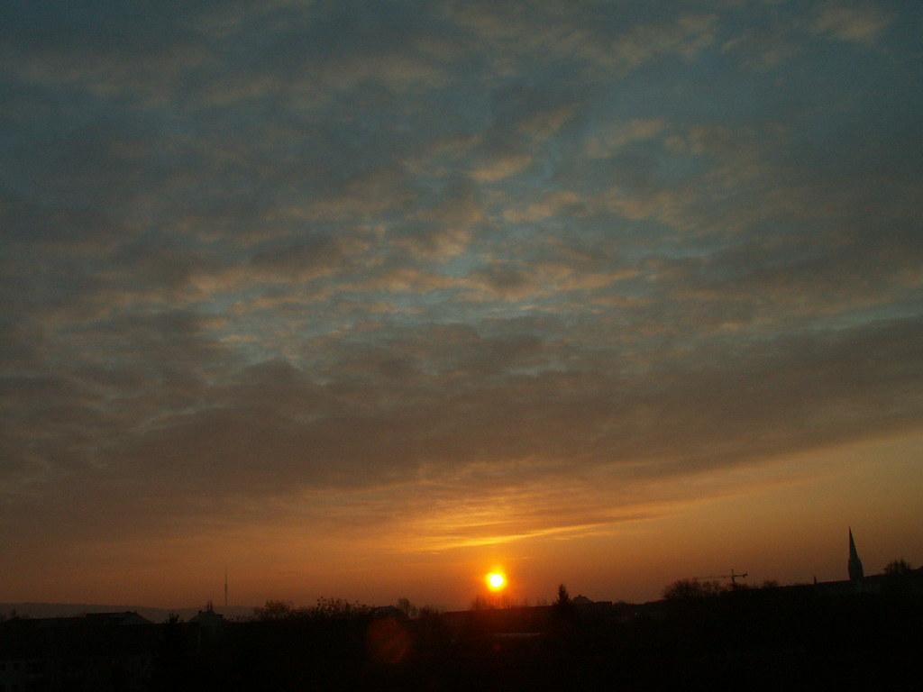 Blätter sangen aus der Erde Leben, Farbe, Glanz und Saft, flattern wieder zu der Erde, wenn sie knickt des Sturmes Kraft bei Sonnenaufgang 018