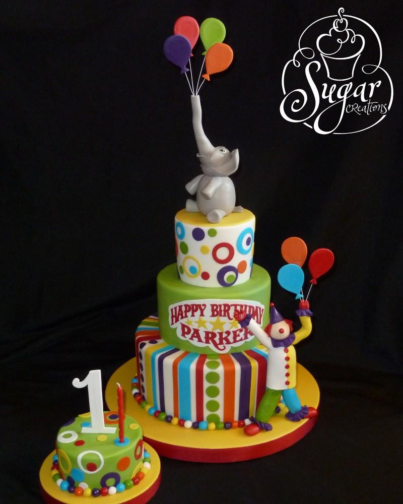 Miraculous Circus Birthday Cake Circus Theme First Birthday Rice Kri Flickr Funny Birthday Cards Online Elaedamsfinfo