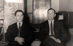 الاذاعة المغربيه مع مديرها ابو بكر بنونة - 1965