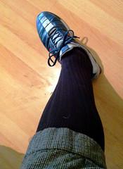 tweed knicker + suede-soled sneaker