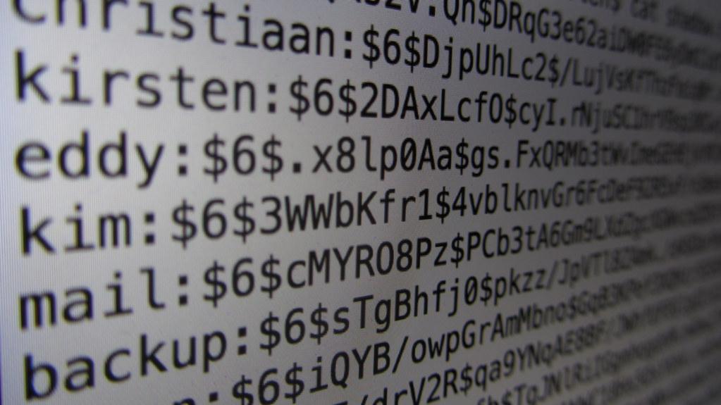 Linux password file