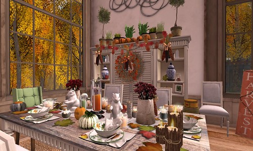 Thanksgiving 2015- Indian Corn Wreath | by Hidden Gems in Second Life (Interior Designer)