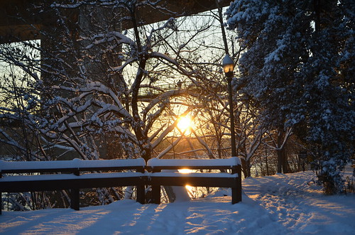Saturday Snowy Sunset