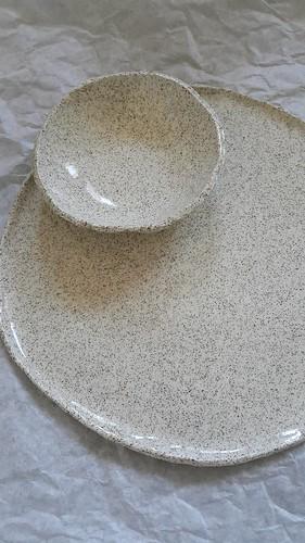 Hand thrown ceramics plates bowls   by michtsang