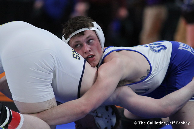 182AAA - Semifinal - Brandon Moen (Owatonna) 34-0 won by tech fall over Calvin Sund (Prior Lake) 37-8 (TF-1.5 4:32 (19-4))
