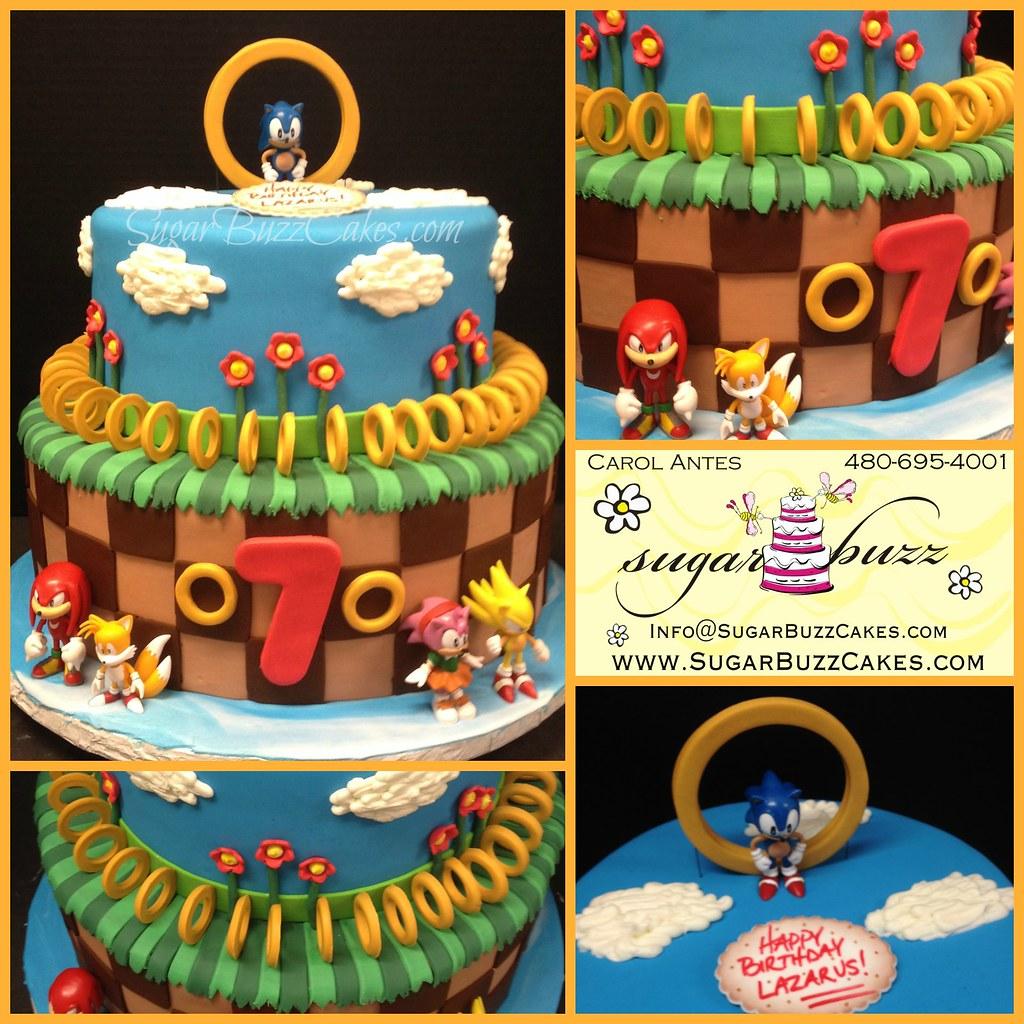 Sensational Sonic Birthday Cake A Photo On Flickriver Funny Birthday Cards Online Alyptdamsfinfo