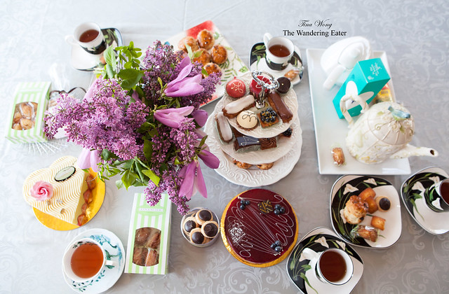 The spread for Mother's Day afternoon tea