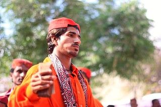 Sindhi man dressed traditionally for dance on folk songs | by Engineer J