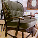 Dark wood stained chair