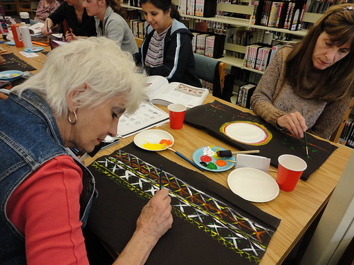 Mudcloth adult craft | by Harris County Public Library