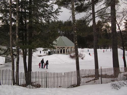 Ice Skating Pond and warming hut | by rickpilot_2000