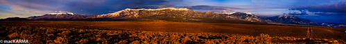 sunset mountains landscape taos taosplateau