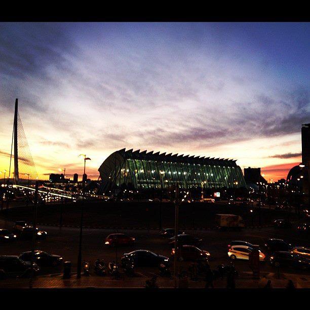 Berklee Valencia blogs - Ryan McGonagill - Ciudad de las Artes y las Ciencias at night