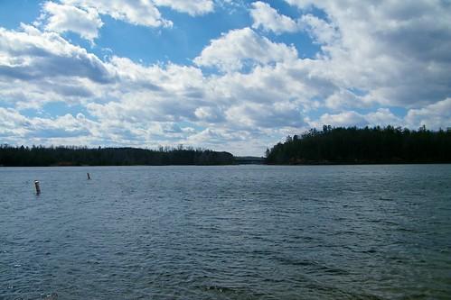 park bridge lake beach swimming james canal state north carolina buoys paddys