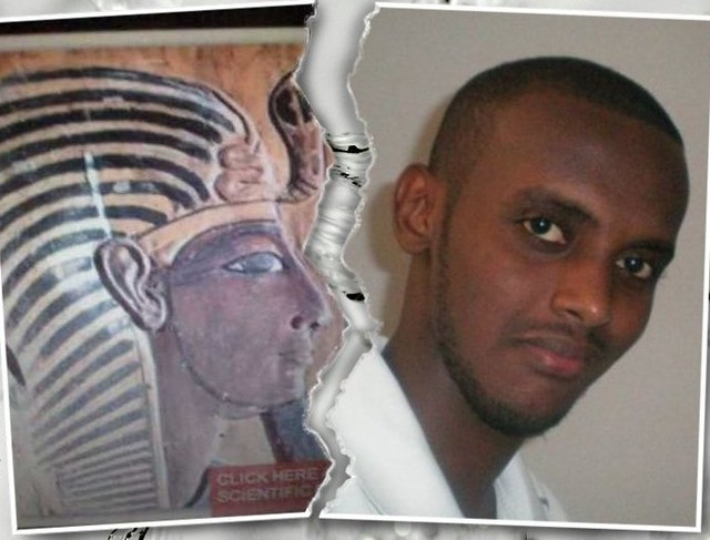 Pharaoh Seti I of Ancient Egypt and Bileh  From Djibouti, the Ancient Region Land of Punt .