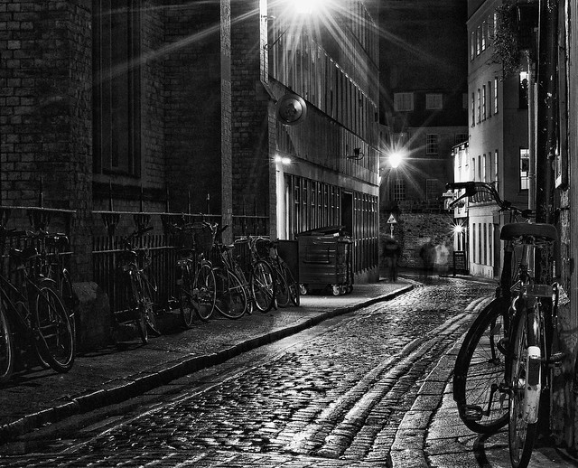 Wet alleyway monochrome