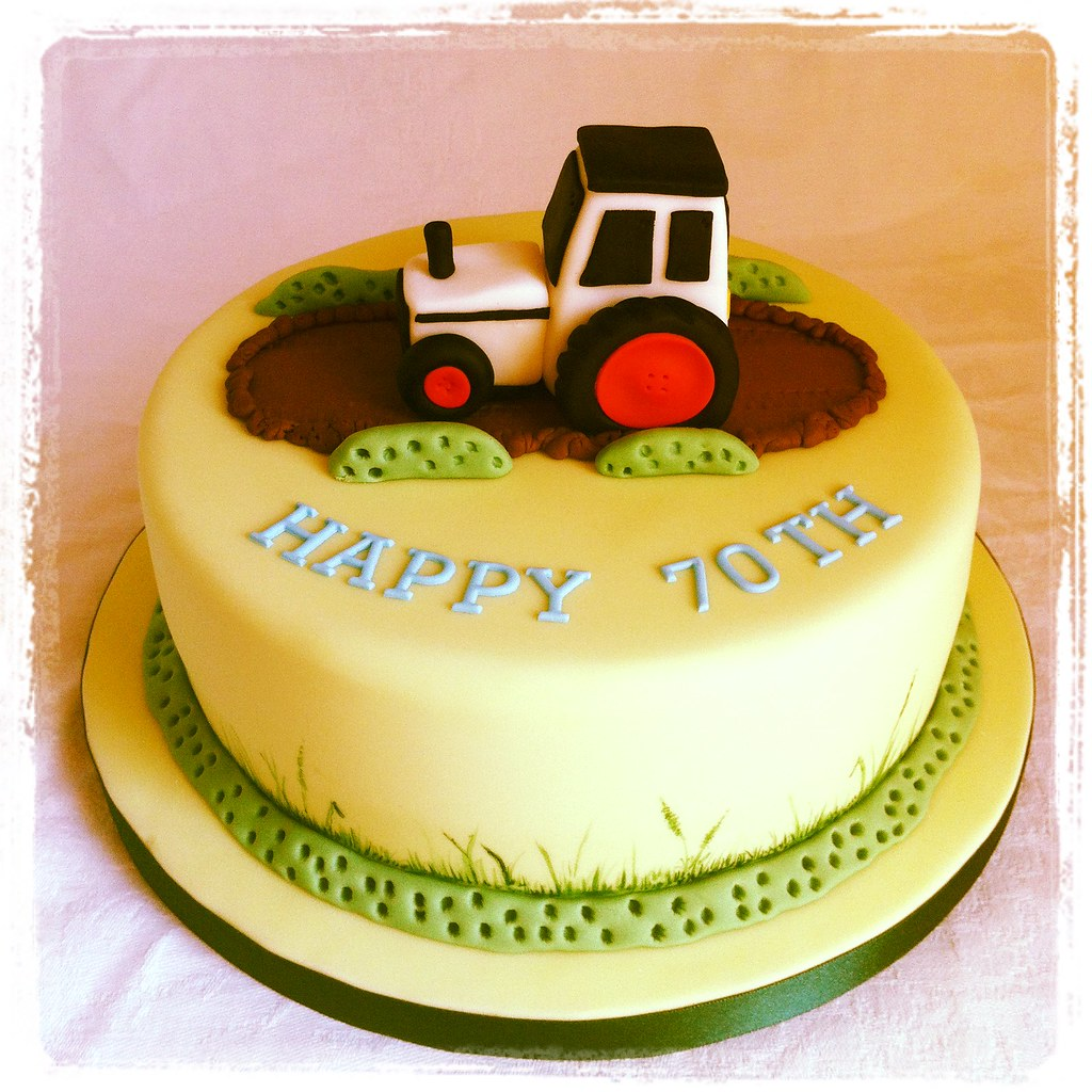 Groovy Tractor Birthday Cake Taken On Instagram Rachel Walker Flickr Funny Birthday Cards Online Fluifree Goldxyz